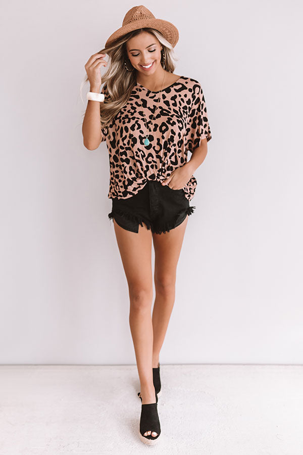 Morning Mimosas Leopard Top