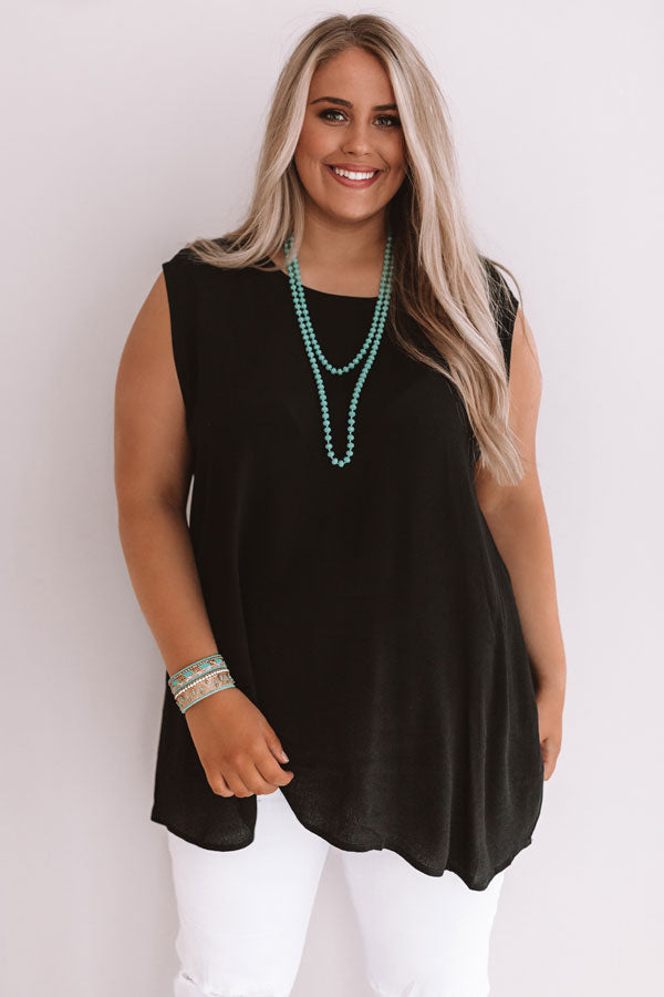 Time For A Getaway Shift Tunic In Black
