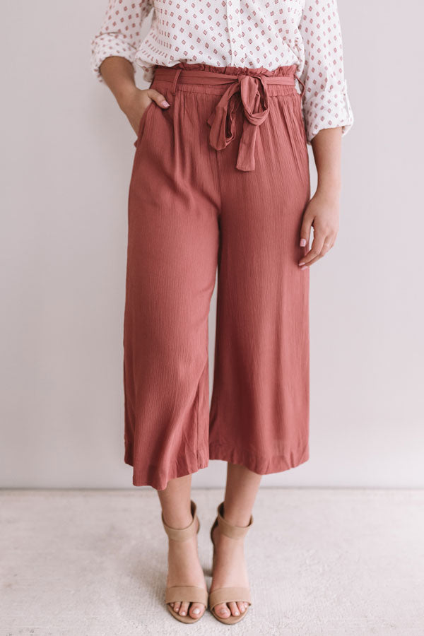 Summer Dreams High Waist Pants In Rustic Rose