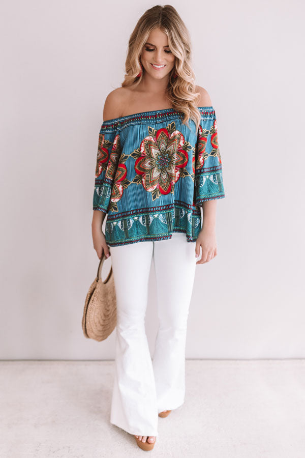 Trip To The Tropics Off Shoulder Top