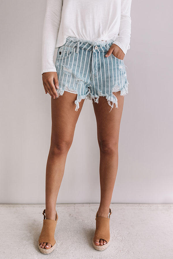 The Andie High Waist Frayed Shorts