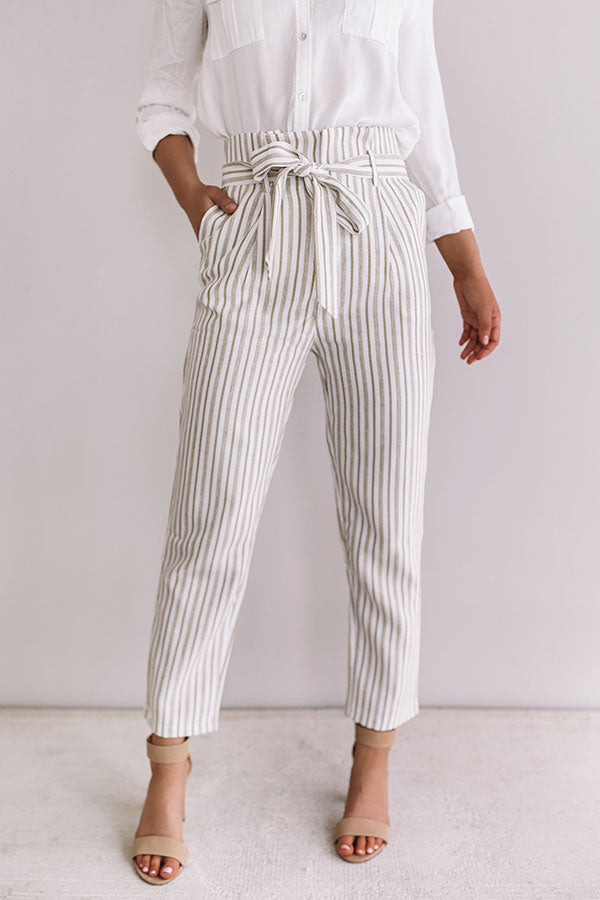 Roaming The City High Waist Stripe Pants