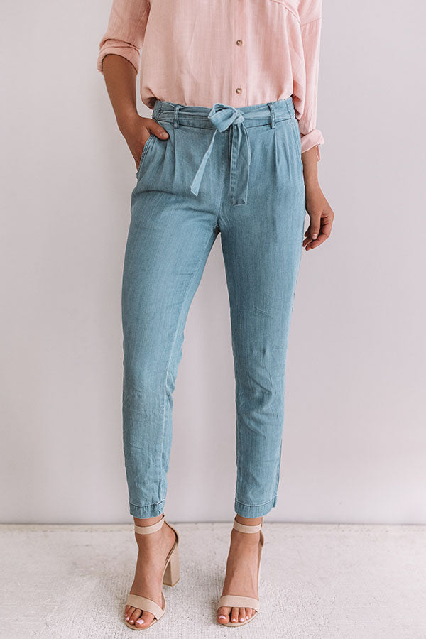 Rise To The Ocasion Chambray Pants