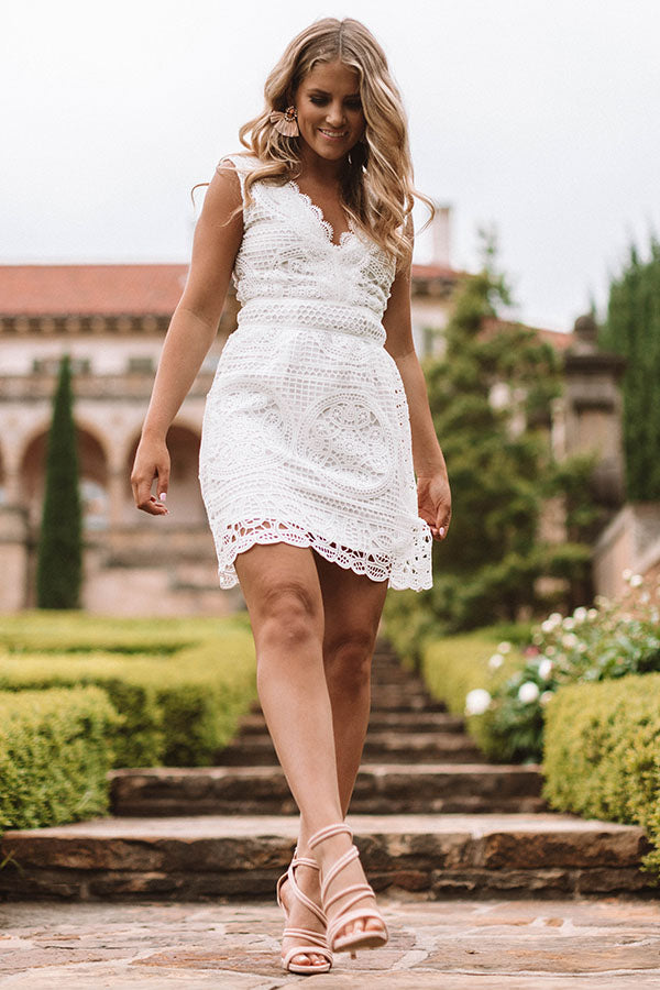 Be By My Side Crochet Dress
