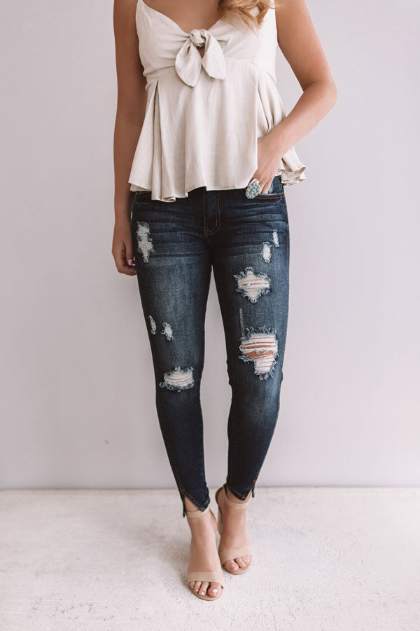 The Henson Midrise Distressed Skinny