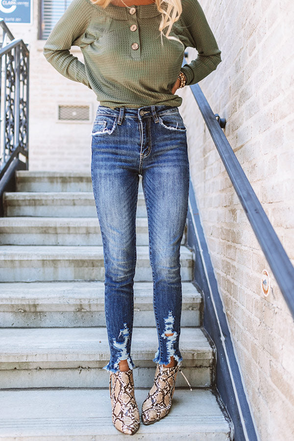 The Fleur High Waist Distressed Skinny