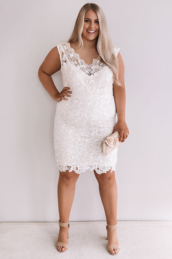 Terrace Kisses Crochet Dress