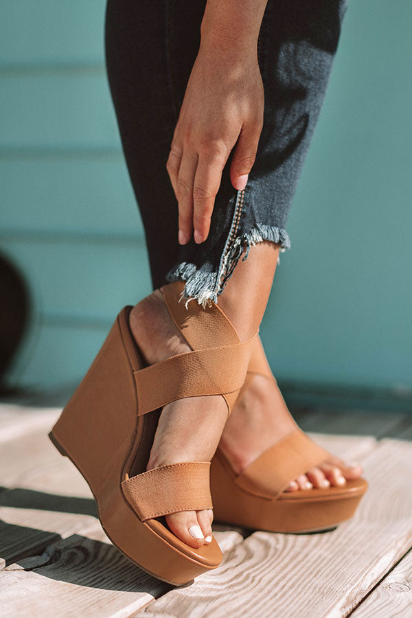 The Jenson Wedge in Tan