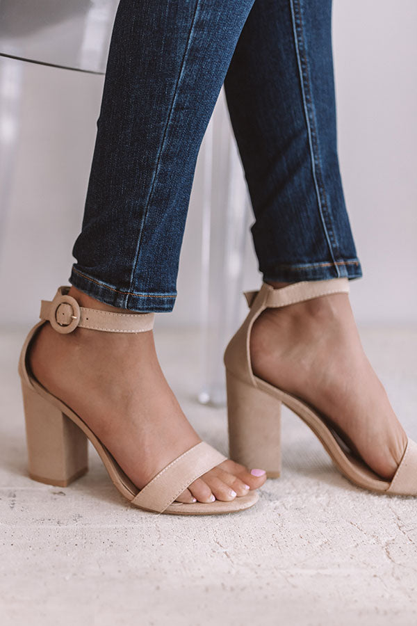 The Corina Heel in Iced Latte