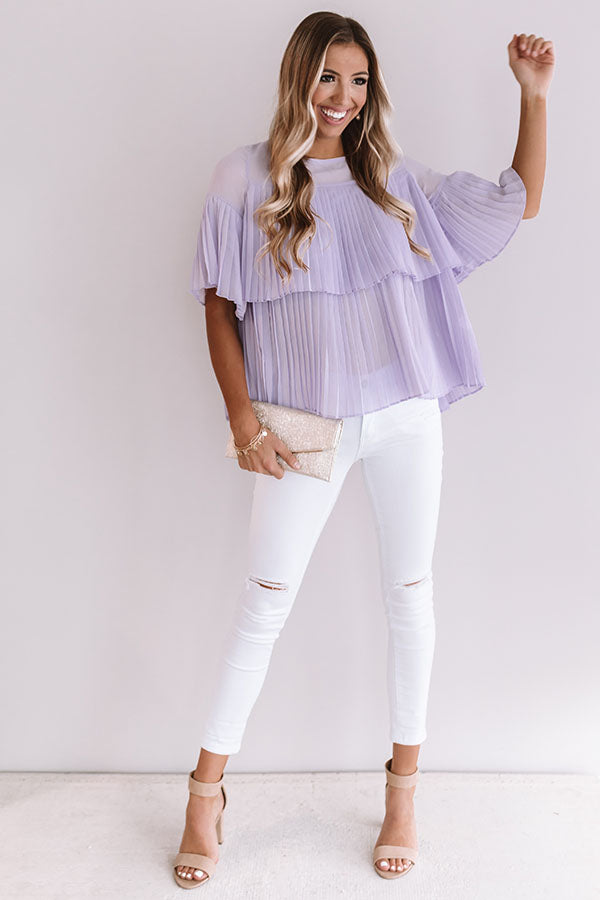 Beauty And The Bloom Shift Top In Lavender
