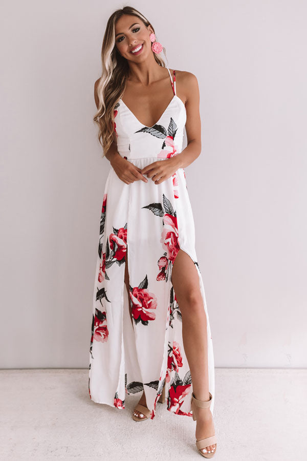 Floral Wonderland Maxi In White