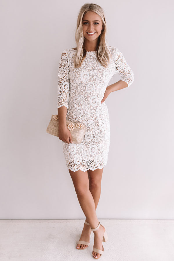 Count On It Crochet Dress