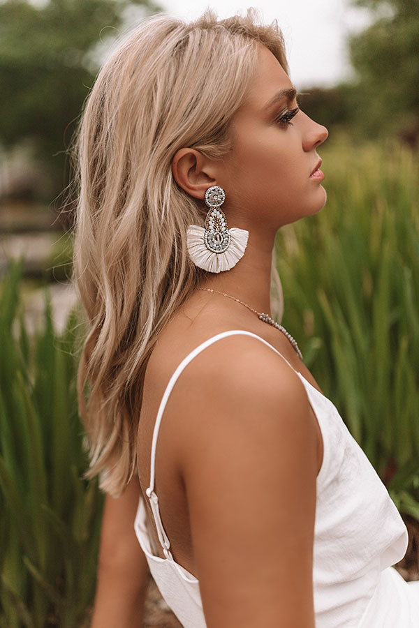Fall In Love With Malibu Earrings In White