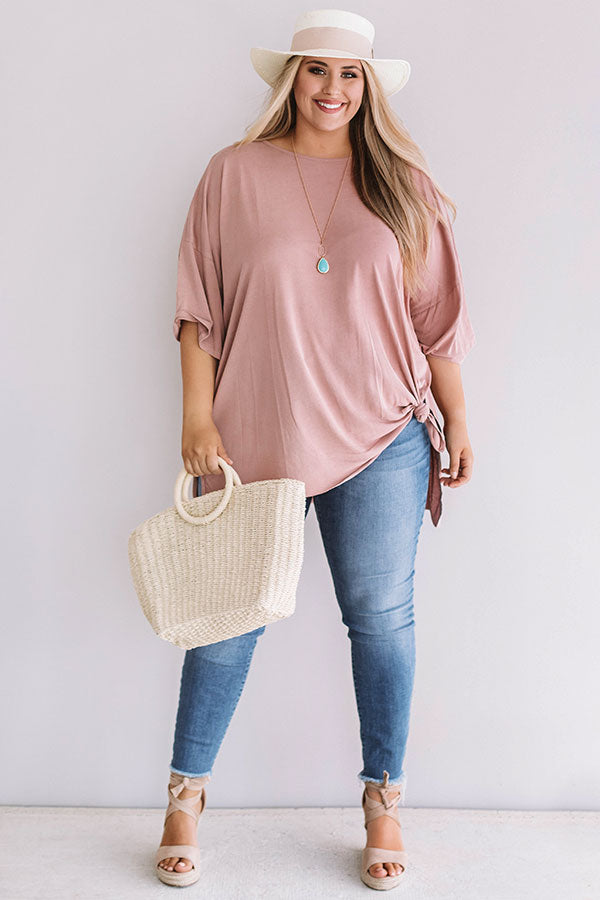 Never Say Never Shift Top in Blush