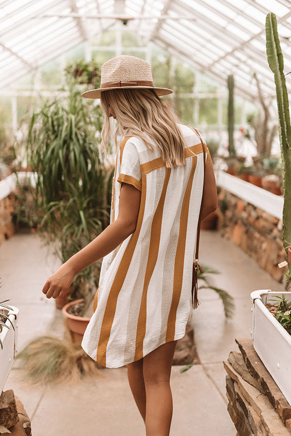 Time For A Vacation Shift Dress in Mustard