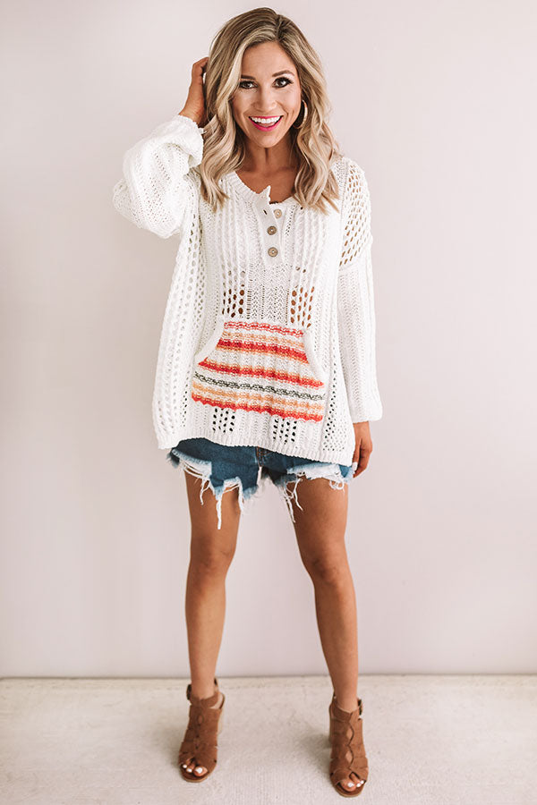 Endless Summer Nights Knit Sweater in Ivory