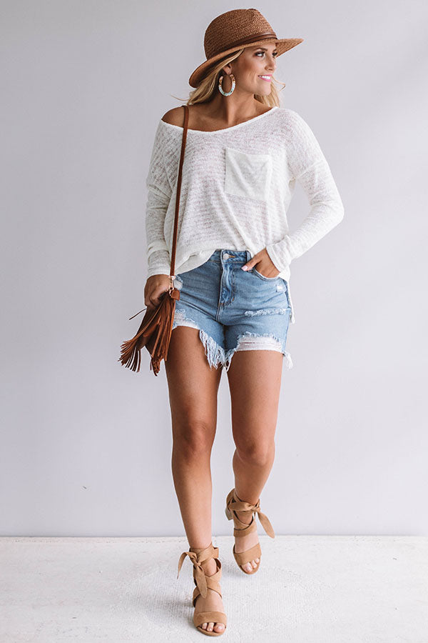 Sunrise Yoga Knit Sweater in Ivory