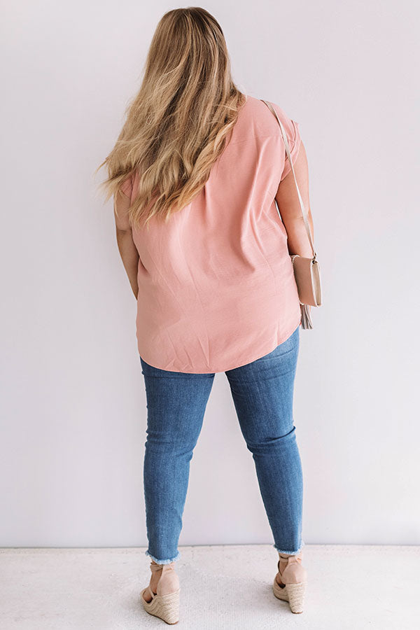 Haute Off The Press Shift Top In Peach