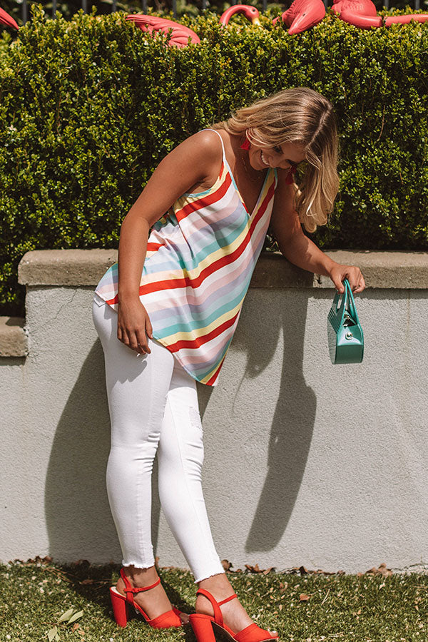 Sunshine Season Stripe Shift Tank
