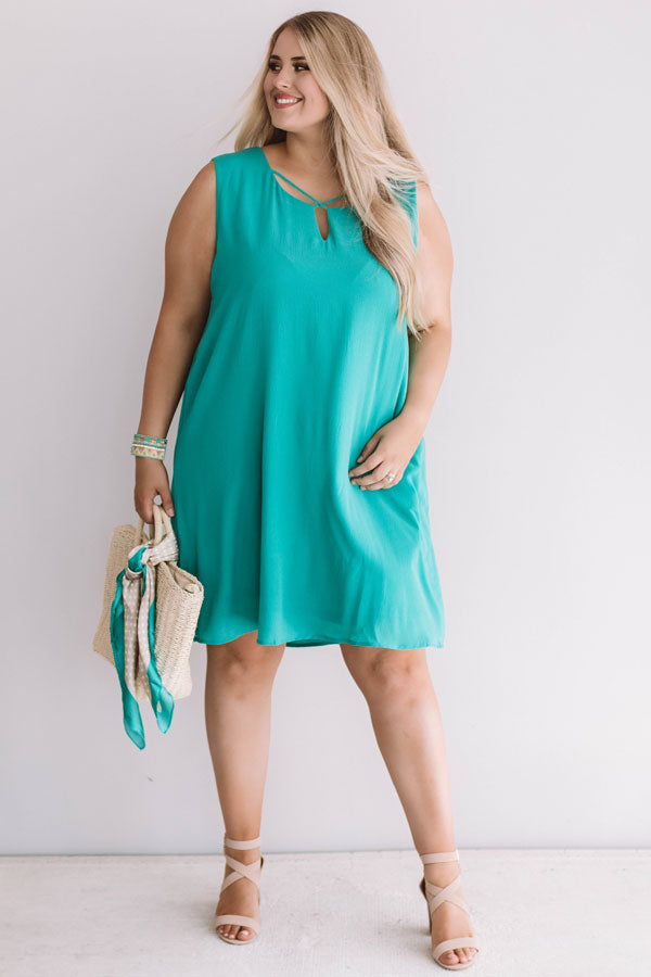Dinner With A View Shift Dress in Jade