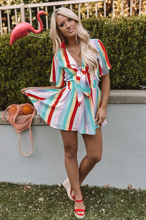 Highway to Happiness Stripe Romper