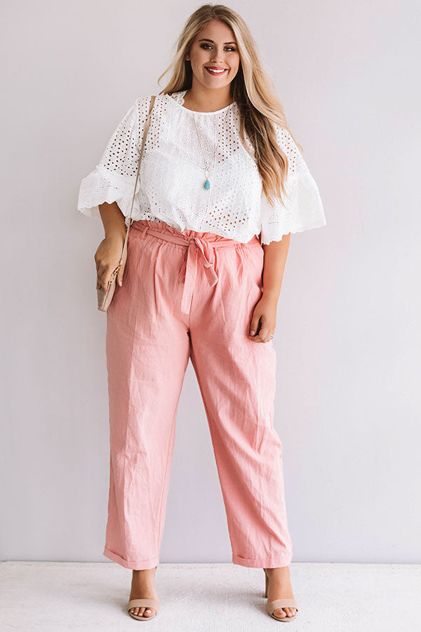 Come Away With Me Eyelet Top
