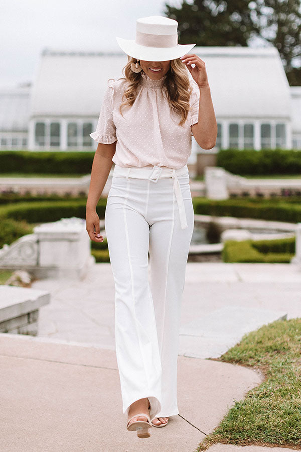 Grecian Getaway Trousers In Ivory