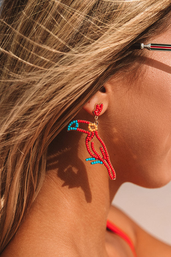 Find Me In Parrot-dise Beaded Earrings