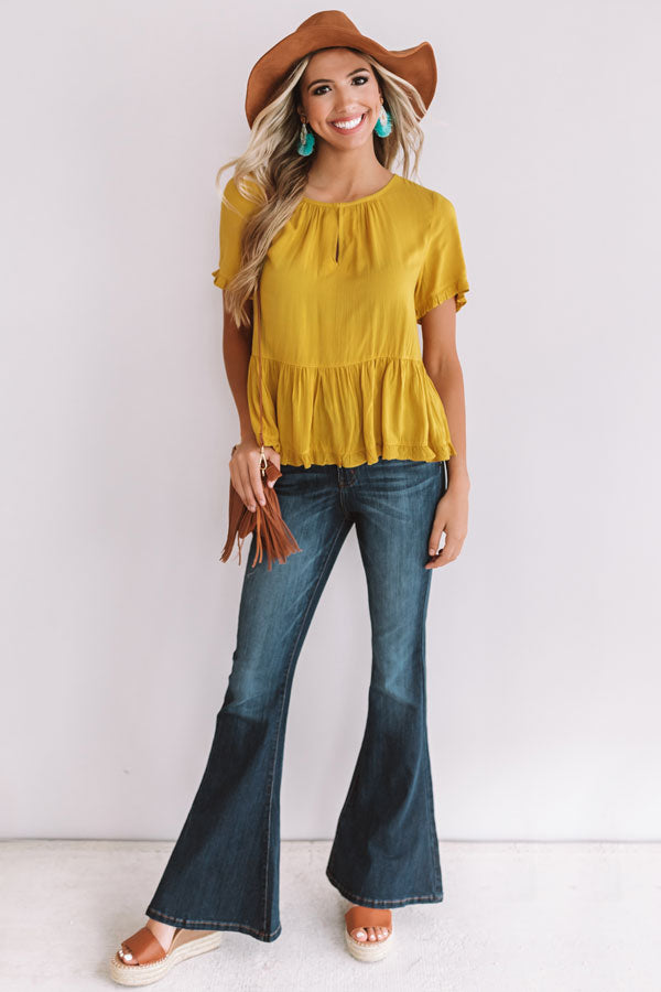 Catalina Coast Shift Top In Mustard