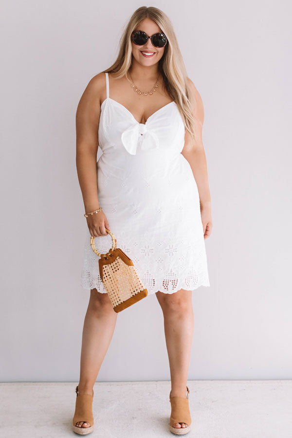 Sun And Sea Breeze Eyelet Dress