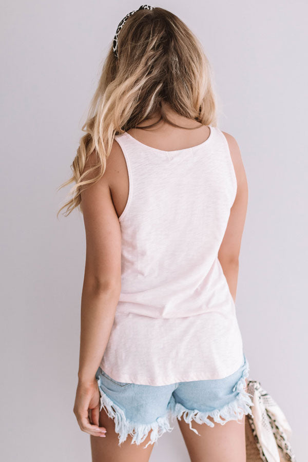Summer Dates Shift Tank In Light Pink