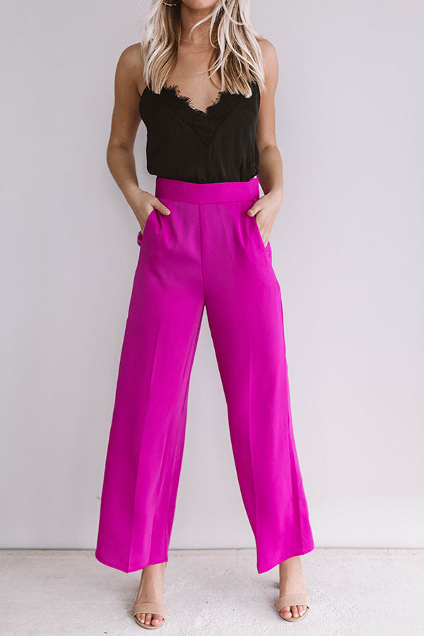 Fabulous In Fiji Trousers In Fuchsia