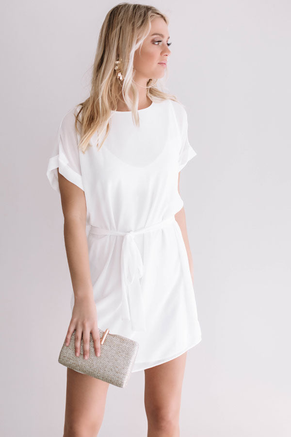 Date Night With You Shift Dress In White