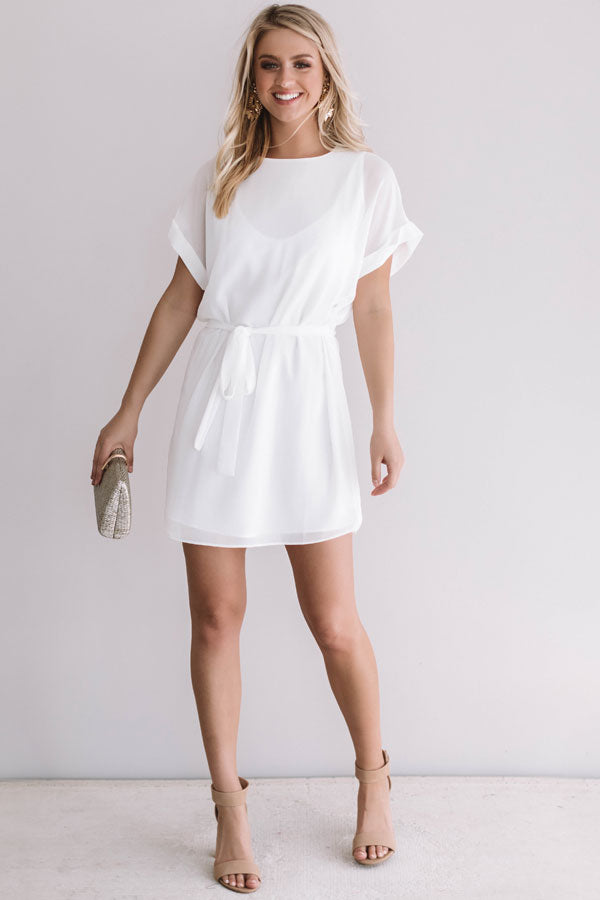 7b09832ec24 Date Night With You Shift Dress In White