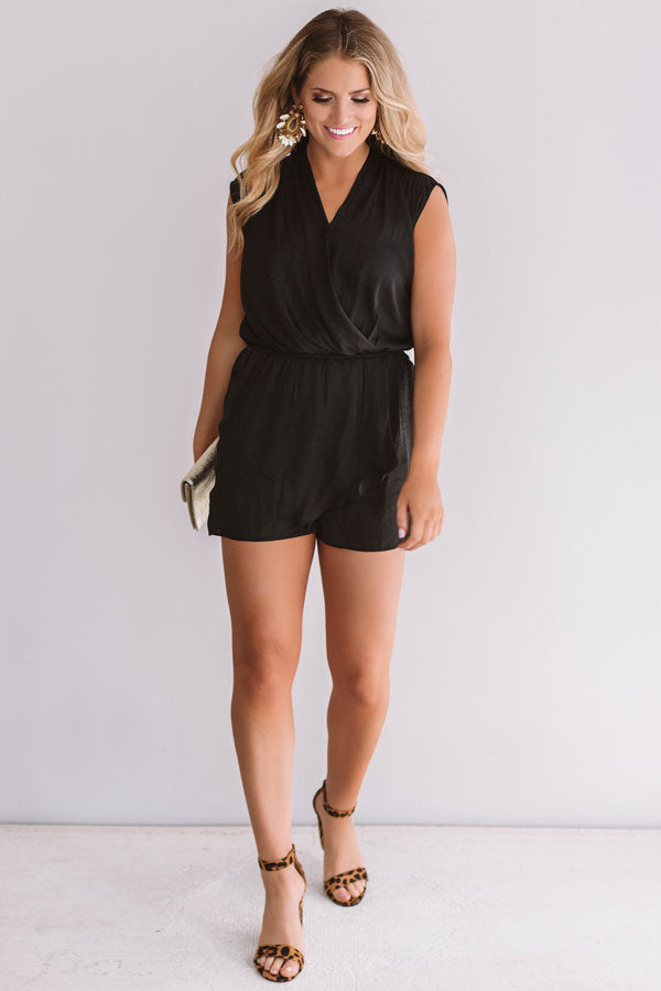 Bubbly In Brighton Romper In Black