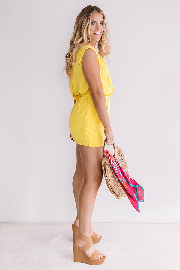 Bubbly In Brighton Romper In Yellow