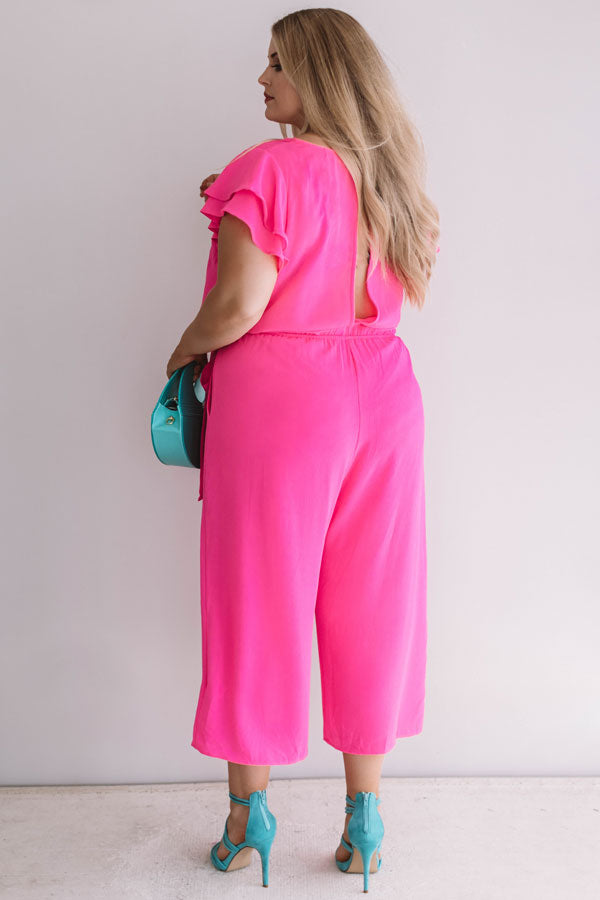 Bright On Point Jumpsuit In Hot Pink