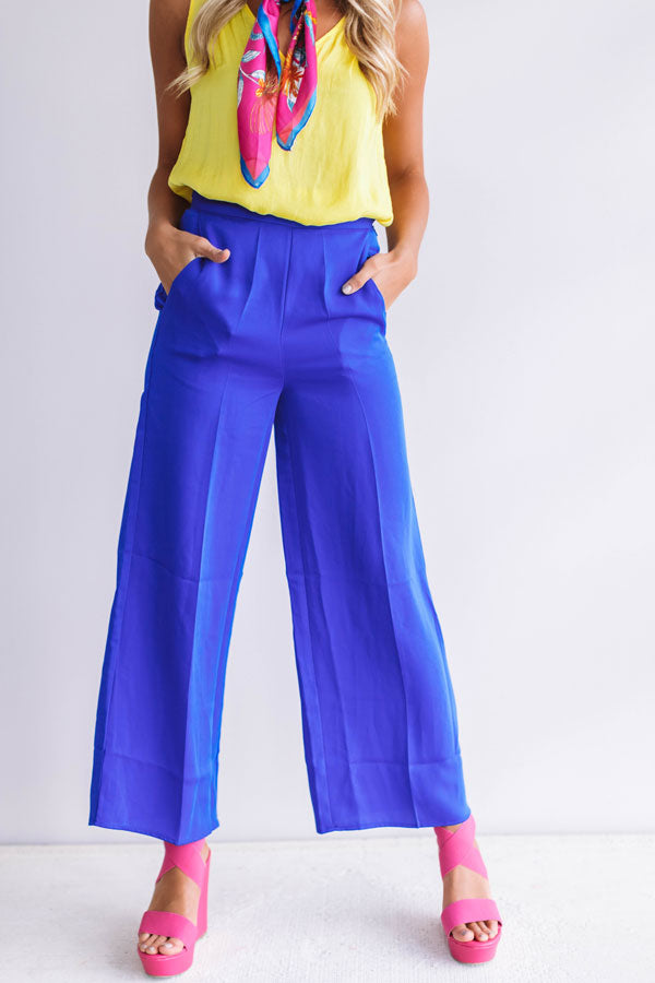 Fabulous In Fiji Trousers In Royal Blue