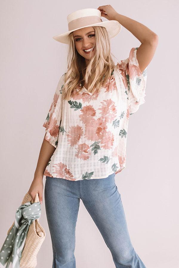 Mint Juleps in the Afternoon Shift Top