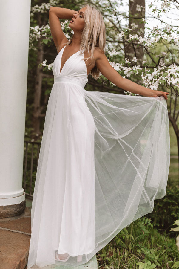 Just Say Yes Maxi in White