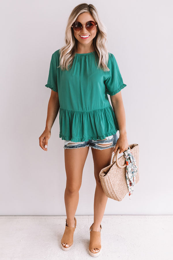 Catalina Coast Shift Top In Emerald