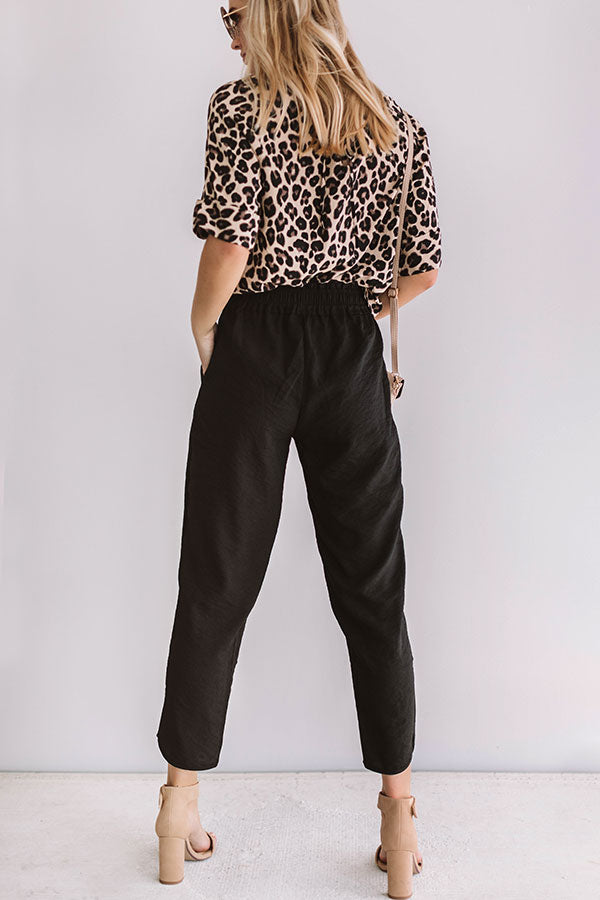 Cosmos And Chit Chat Pants In Black