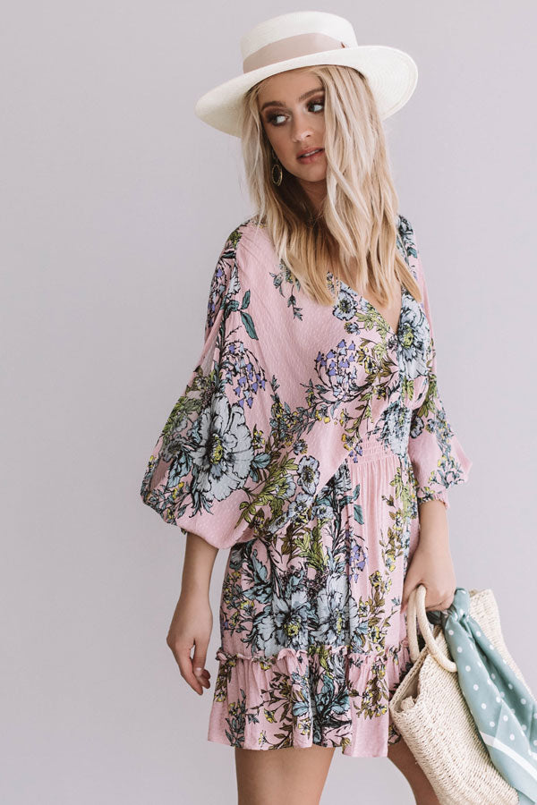 Frose And Friendship Floral Dress