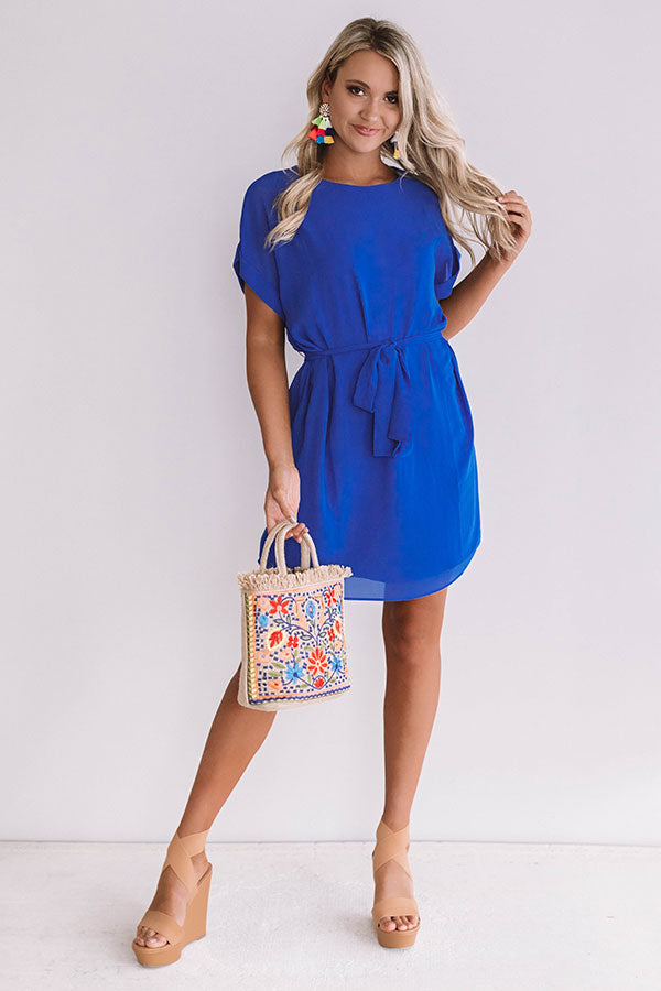 Date Night With You Shift Dress In Royal Blue