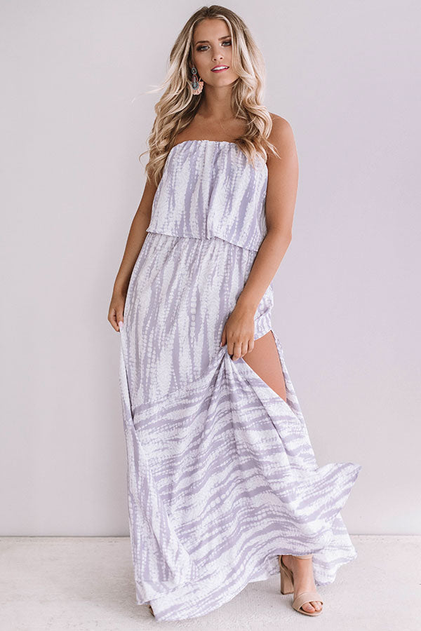 Cocktails And Coconuts Tie Dye Maxi In Lavender