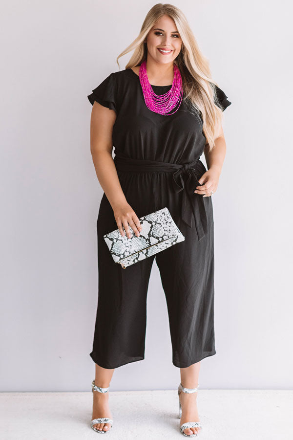 Bright On Point Jumpsuit In Black