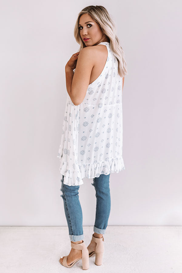 Cosmos With The Girls Shift Tunic In White