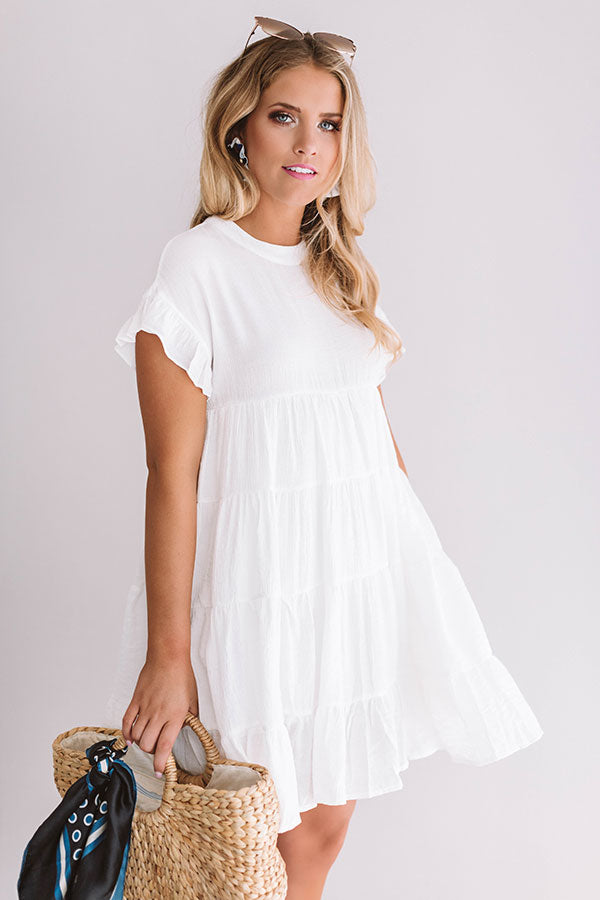 Love Potion Babydoll Dress In White