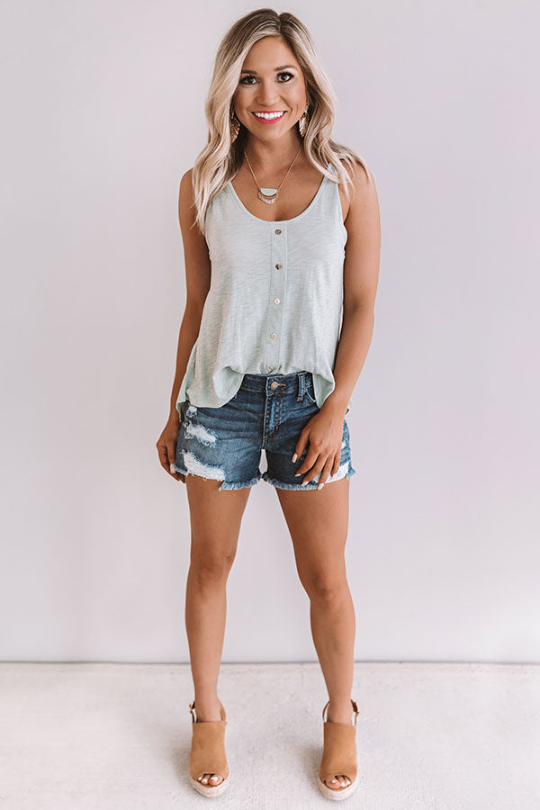 Summer Dates Shift Tank In Light Pear