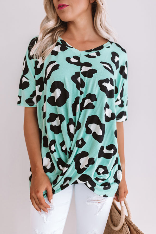 Truest Love Of All Leopard Top in Mint